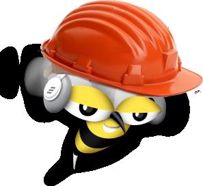 unser Bienchen als Bauleiter