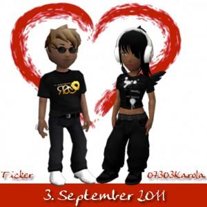 OnlineHochzeit von 07303Karola & Ticker am 3. September 2011